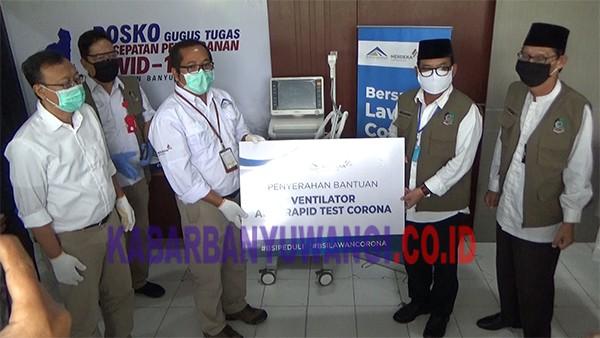 PT BSI Bantu Ventilator dan Rapid Test Kit untuk Gugus Tugas Covid-19 Banyuwangi