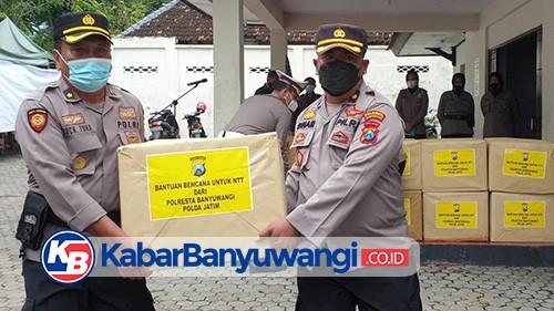 Polresta Banyuwangi Berangkatkan 1.000 Paket Bantuan untuk Korban Banjir NTT