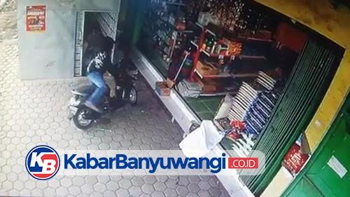 Aksi Pencurian Motor Scoopy di Cluring Terekam CCTV, Polisi Buru Pelaku