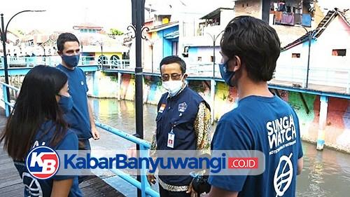Jaga Sungai Tetap Bersih, DPU Pengairan Banyuwangi Berencana Pasang Penghalang Sampah