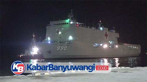 KRI Dokter Soeharso Sandar di Pelabuhan Tanjungwangi