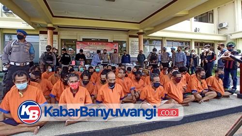 Operasi Pekat Semeru, Polresta Banyuwangi Ungkap 353 Kasus dan 439 Tersangka