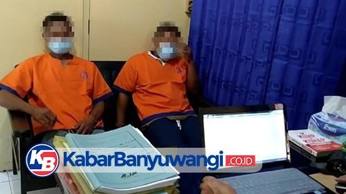Dua Pria Digulung Anggota Polsek Tegaldlimo Saat Asik Judi Cap Jiki