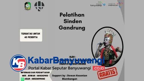 Disbudpar Banyuwangi Bersama DKB Gelar Pelatihan Sinden Gandrung Gratis
