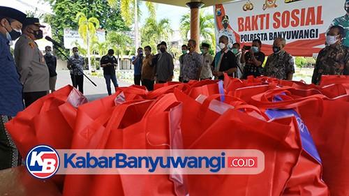 Gandeng Ormas Keagamaan, Polresta Banyuwangi Kembali Menyalurkan 1000 Paket Sembako